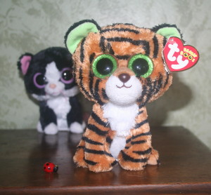 Plush tiger & his pals Kinney and Lady bug